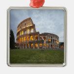 Colosseum en Roma, Italia Adorno Navideño Cuadrado De Metal