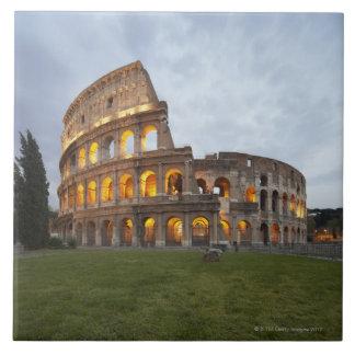Colosseum en Roma, Italia Azulejo Cuadrado Grande