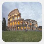 Colosseum en Roma, Italia Calcomanías Cuadradases