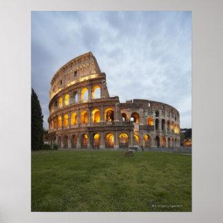 Colosseum en Roma, Italia Poster