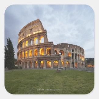 Colosseum en Roma, Italia Pegatina Cuadrada