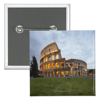 Colosseum en Roma, Italia Pin Cuadrada 5 Cm