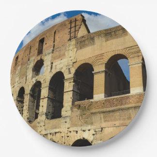 Colosseum en Roma, Italia Platos De Papel