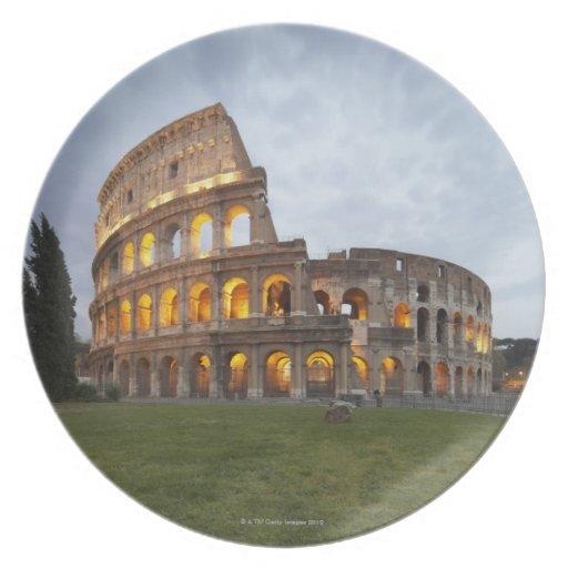 Colosseum en Roma, Italia Platos Para Fiestas