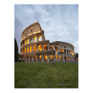 Colosseum en Roma, Italia Postal
