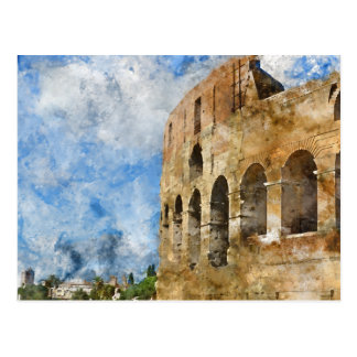 Colosseum en Roma, Italia Tarjeta Postal