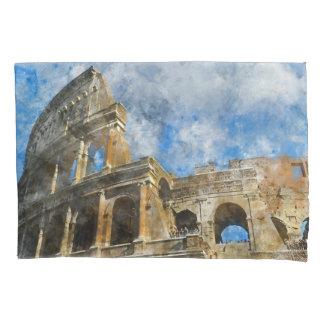 Colosseum en Roma, Italy_ Funda De Cojín