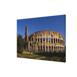 Colosseum famoso en la señal 2 de Roma Italia Impresiones En Lienzo Estiradas