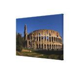 Colosseum famoso en la señal 2 de Roma Italia Lienzo Envuelto Para Galerías