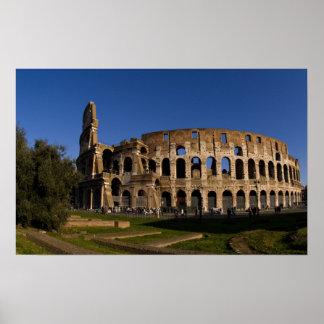 Colosseum famoso en la señal 2 de Roma Italia Poster