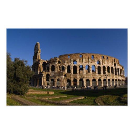 Colosseum famoso en la señal 2 de Roma Italia Arte Fotográfico