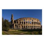 Colosseum famoso en la señal 2 de Roma Italia Impresiones Fotográficas