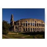 Colosseum famoso en la señal 2 de Roma Italia Tarjeton