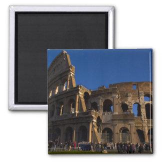 Colosseum famoso en la señal de Roma Italia Iman De Nevera