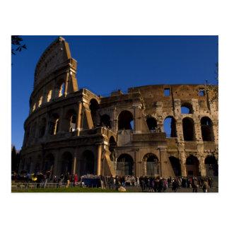Colosseum famoso en la señal de Roma Italia Tarjeta Postal