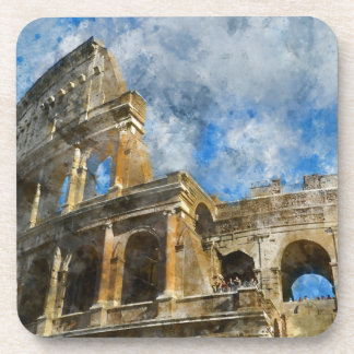 Colosseum in Ancient Rome Italy Beverage Coaster