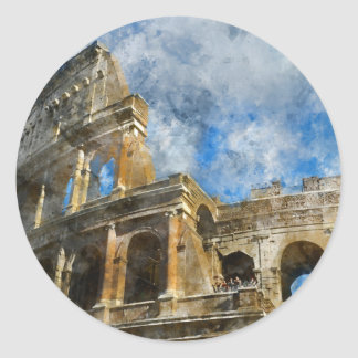 Colosseum in Ancient Rome Italy Classic Round Sticker