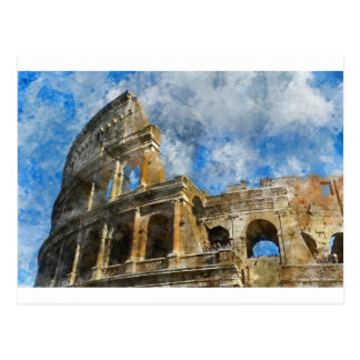 Colosseum in Ancient Rome Italy Postcard