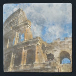 """Colosseum in Ancient Rome Italy Stone Coaster<br><div class=""""desc"""">Colosseum in Rome,  Italy</div>"""