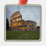 Colosseum in Rome, Italy Square Metal Christmas Ornament