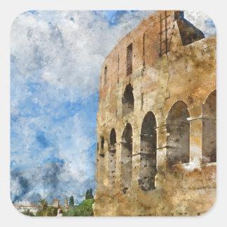 Colosseum in Rome, Italy Square Sticker