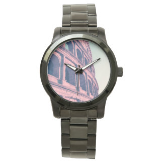 Colosseum in Rome. Monumental 3-tiered Roman Wrist Watch