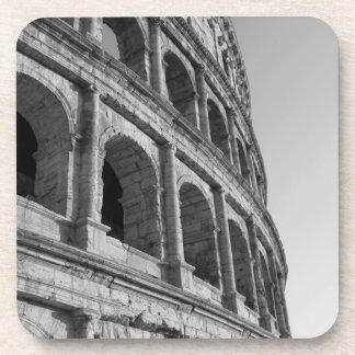 Colosseum in Rome. Monumental Roman amphitheater Drink Coaster