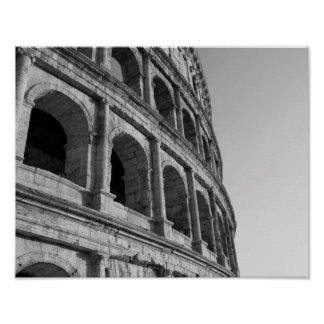 Colosseum in Rome. Monumental Roman amphitheater Poster