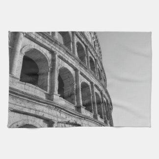 Colosseum in Rome. Monumental Roman amphitheater Towel
