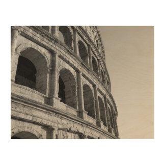 Colosseum in Rome. Monumental Roman amphitheater Wood Wall Decor