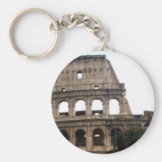 Colosseum Italian Travel Photo Basic Round Button Keychain