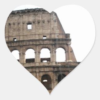 Colosseum Italian Travel Photo Heart Sticker