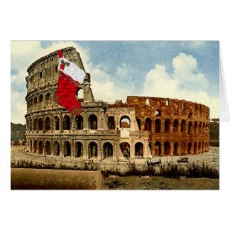 Colosseum la tarjeta de Navidad de Roma, (imagen