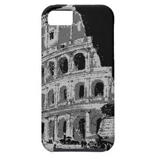 Colosseum negro y blanco iPhone 5 carcasas