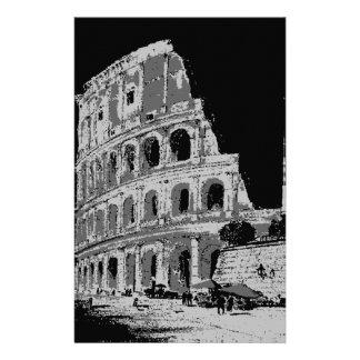 Colosseum negro y blanco papelería de diseño