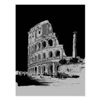 Colosseum negro y blanco postales