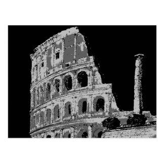 Colosseum negro y blanco tarjeta postal
