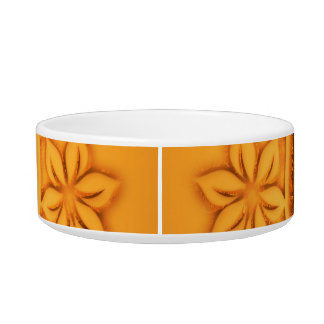 Colosseum on a button with floral elements bowl