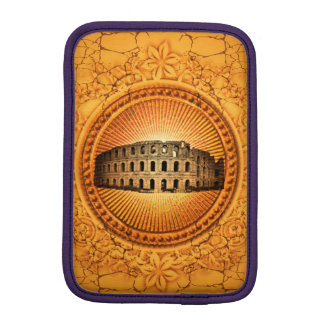 Colosseum on a button with floral elements iPad mini sleeve