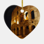 Colosseum Double-Sided Heart Ceramic Christmas Ornament