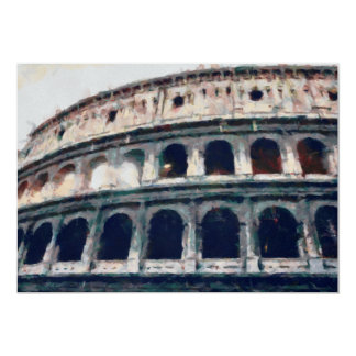 Colosseum painting, Rome Card