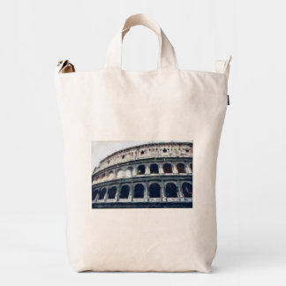 Colosseum painting, Rome Duck Canvas Bag