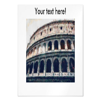 Colosseum painting, Rome Magnetic Card