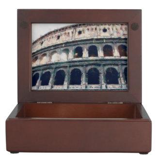 Colosseum painting, Rome Memory Box