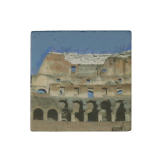 Colosseum painting, Rome Stone Magnet