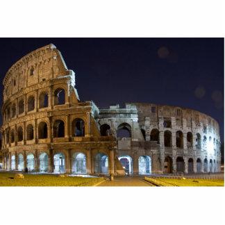 Colosseum romano en la noche esculturas fotográficas