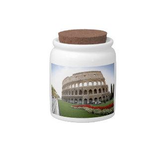 Colosseum romano jarra para caramelo