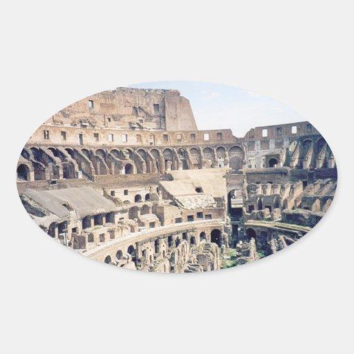 Colosseum romano - pegatinas pegatina ovalada