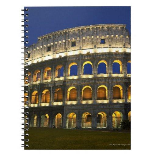 Colosseum romano, Roma, Italia 3 Libros De Apuntes