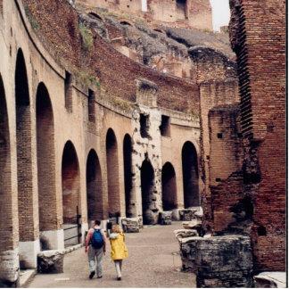 Colosseum romano - visión interior escultura fotográfica